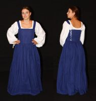 Blue peasant dress by Celefindel
