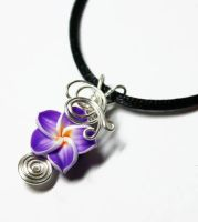 Wire Wrap Tropical Flower PERFUME Pendant 5 by Create-A-Pendant