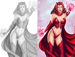 Scarlet Witch - Colors - Side by Side by StacyRaven