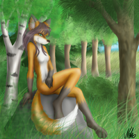 Fox in the forest by Neko-Chan-Battosai