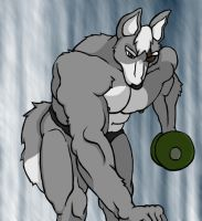 Work-Out Wolf by WolfoxOkamichan