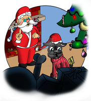 Andy the Pug Christmas page 15 by CartoonistWill