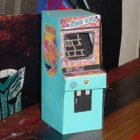 Donkey Kong Game Cabinet by paperart