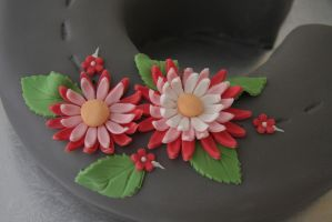 Flowers on Em's Birthday Cake 2013 by Tiestarian