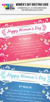 Womens Day Greeting Card by jasonmendes