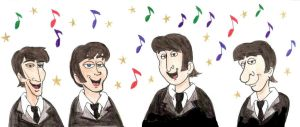 Art Trade- The Beatles by Violeta960
