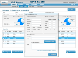 iClub Manager interface design by matissko