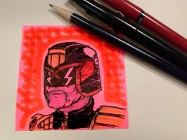Post-It Dredd by Bleu-Ninja