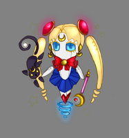 Robo Sailor Moon Chibi by Phanteia