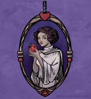 Snow Organa and the Poisoned Death Star by khallion