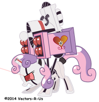 Sweetie Bot Reference Angle 2 by Vectors-R-US