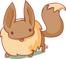 My representation of eevee-I like flash XD by TamilaB