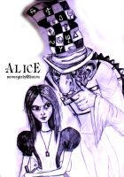 Alice and Mad Hatter by Marrylie