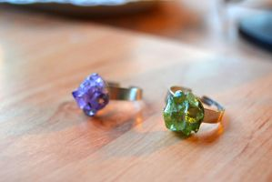 Magic Gems Adjustable Ring by MissVulture93