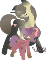 Mother and Daughter (my OCs) by Danie-me