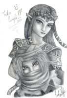 Zelda and Sheik by carla-ng