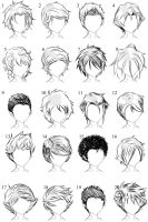 20 More Male Hairstyles by LazyCatSleepsDaily