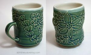 Kanzashi cup with thumb indent by skimlines