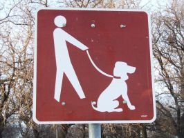 Dog.Leash.Sign by NoRulesStock