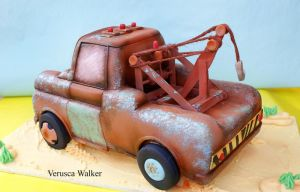 Tow Mater 3D Cake back by Verusca
