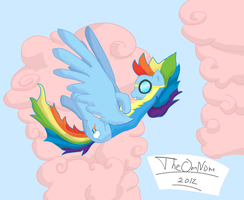 Rainbow dash wonderbolt cadet. by TheOmNom