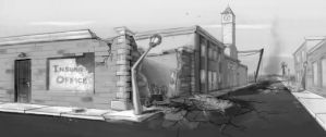 Small Town Wreckage by mythsnlore