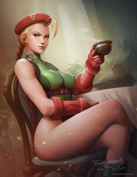 Cammy's Tea Time by Tarakanovich