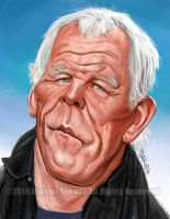 Nick Nolte color caricature by Jubhubmubfub