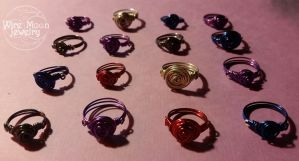 Rose Wire Wrapped Rings by WireMoonJewelry