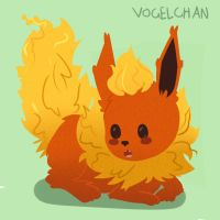 Flareon by Vogelchan