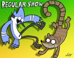 Mordecai and Rigby by MartinsGraphics