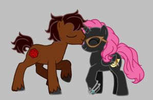 Kiss on the head by LadySquall