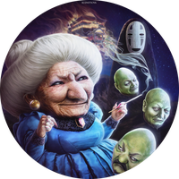 Yubaba, No-Face and Heads by Darey-Dawn
