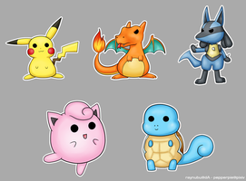 Pokemon Stickers by vusionary