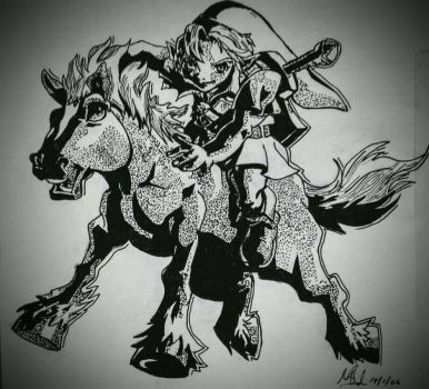young link and epona by mazerati91