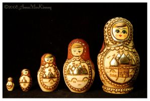 Matryoshkas Raising The Bar by Annushkka