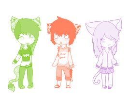 :CO: Dem three chibis by Dudeitsdani
