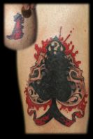 Skull spade cover up by Omedon