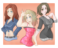 :: Commission August 17: Pop Stars :: by VioletKy