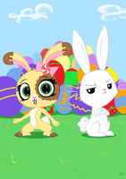 Easter Bunnies by ViralJP