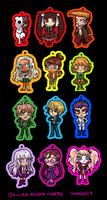 Dangan Ronpa Charms by whinges