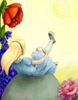 Alice in the Sun with Flowers by Et3rnalCynic