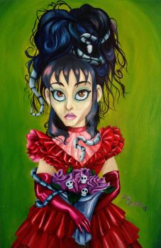 Lydia Deetz oil painting by DemonCartoonist
