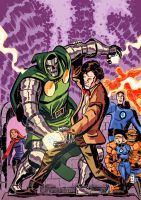 Doctor Who VS Doctor Doom by danmcdaid