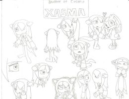Doodling of Xasma by cmara