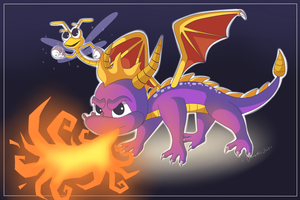 Spyro the dragon by Domestic-hedgehog
