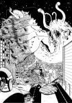 Giant monsters in Black n White 2/3 by ChaosGhidorah