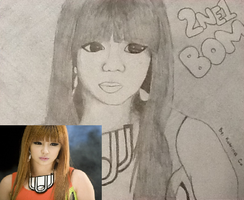 Sketch of 2NE1's Bom by LuvYen101