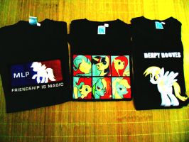 More Pony Shirts by wasd999