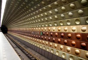Prague, metro station by wphotography